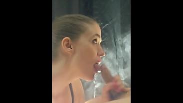 Beautiful Backlit Blowjob (Smoky Sucking)