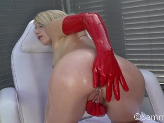 Oily Latex Gloves Anal