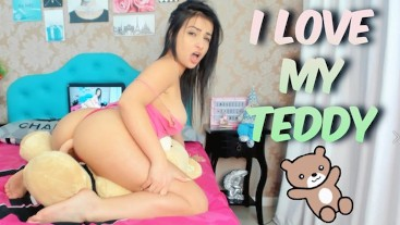 I love my Teddy! Cumming Hard on Mr Teddy , Humping My Teddy Bear