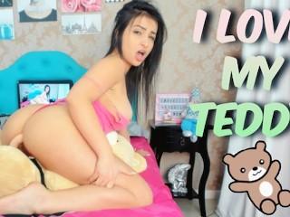 I love my Teddy Cumming Hard on Mr Teddy Humping My Teddy Bear Emanuelly Raquel