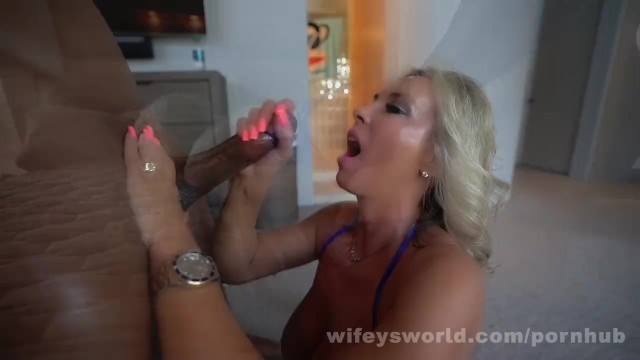 Wifey and tits Busty housewife gets fucked hard and swallows bbc cumshot