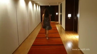 Call girl visits her client in hotel room POV cum swallow Big Ass Latina