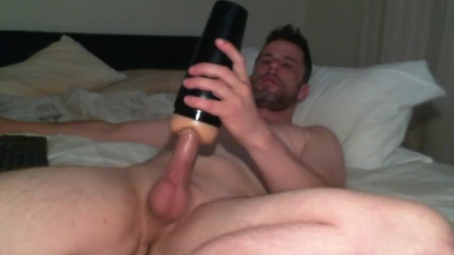 Hot Aussie Guy Moans and Talks Dirty Fucking Fleshlight