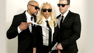 NubilesET - Hime Marie Gets Double Teamed By The Men In Black