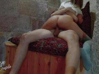 Horny girl seduces her BF and wants his cock fully inside