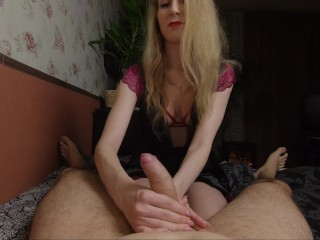 I decided to relax my man with a slow and sensual blowjob. Oral creampie.