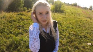 Big White Dick Porn HD Public XXX Petite Blonde Banged In Nature