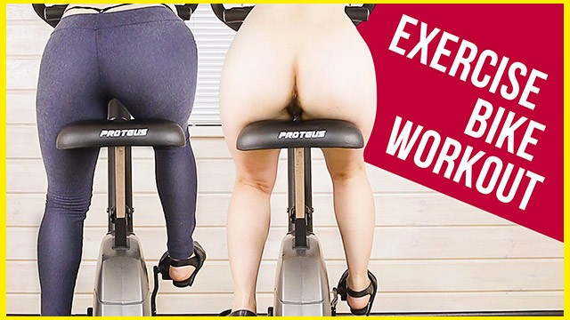 Sport bike ass - My work out on exercise bike in yoga pants ass view era