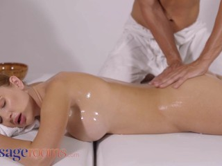 Massage Rooms Big tits Euro babe Kaisa Nord oil soaked passionate sex
