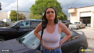 Roadside – Natural Busty Teen Fucks Her Car Mechanic