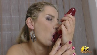Instruction JerkOff next show how I do blowjob and tits job with milking