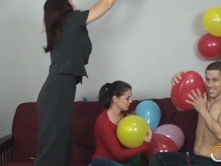 Balloon Fun With Busty Blonde Charlee Chase Charlee Chase