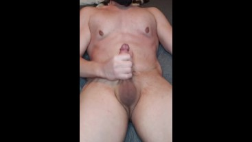 Solo male with stretch marks cumshots on self short