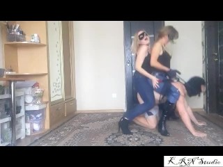 Double Ponyriding With 2 Mistresses Part 3...