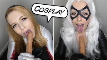 Spider Gwen Black Cat POV BJ Fantasy