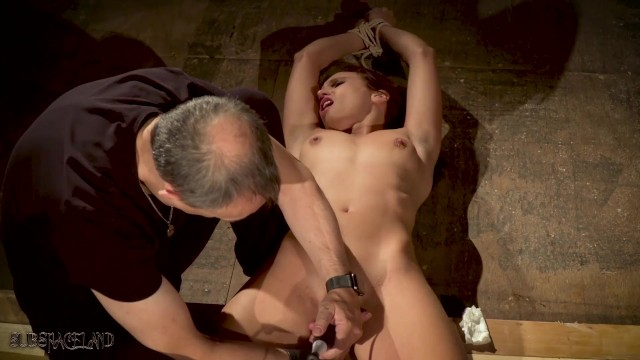 Asians no mans land - Tied up slave made to orgasm in bondage sex