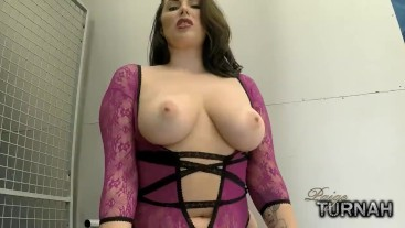 Busty BBW Paige Turnah Teases as a Dom with her big tits and big ass