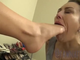 FawnaFuller Submits to Worshipping Domme Feet Compilation Fawna Fuller, Val Dodds