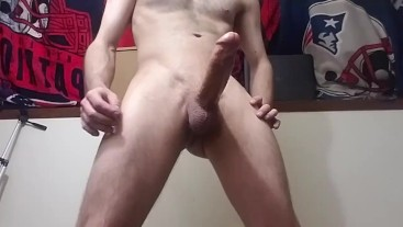 Girthy stud cums for his fans!