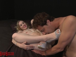 ERIC JOHN worships RILEY REYES spa high heels before giving her cum Eric John, Riley Reyes