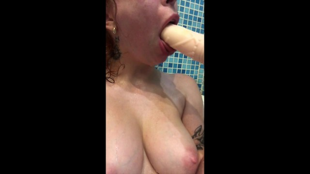 Gush of water from vagina Feetjob under water and blowjob
