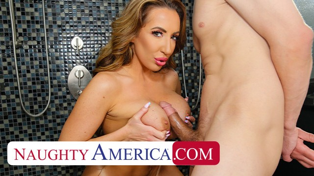 Naughty America Richelle Ryan soaps up with friend's husband