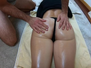 ONE WEEK WAITING TO CUM | SENSUAL MASSAGE ENDS WITH MASSIVE CUMSHOT