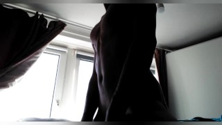 Porn for women, sexy solo male hip thrusting until I cum