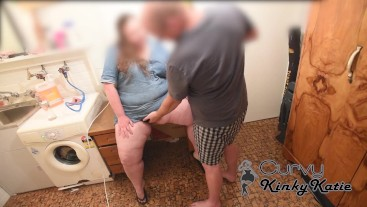 BROTHER FINDS CUTE CHUBBY STEP SISTER IN BASEMENT & MAKES HER GUSH N SMOKE