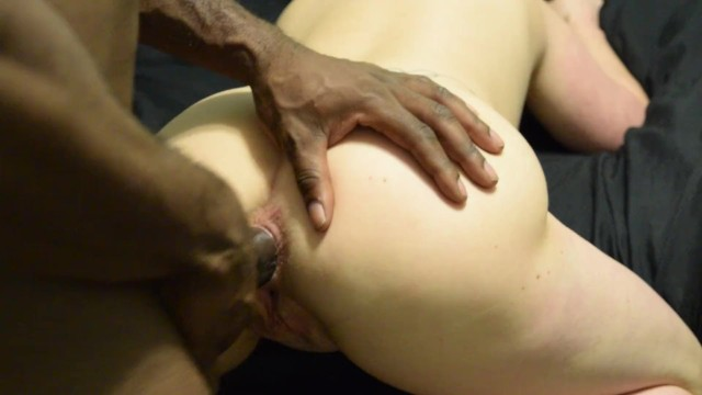 Mature interracial anal Anal training with black dick