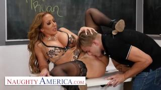 Naughty America – Richelle Ryan Fucks her college student