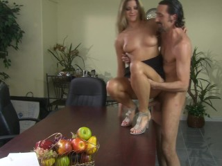 Big Booty Russian Secretary Fucked and Ride Boss Big Cock After the Meeting