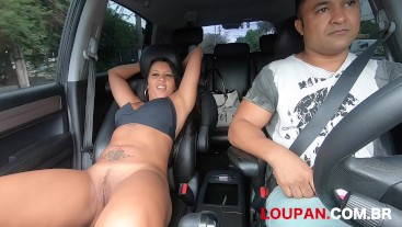 Cumming on the brunette's pussy I Erotic ride #2 I Loupan Productions