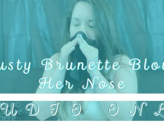 Busty Brunette Blows Her Nose MP