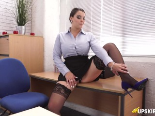 Horny Boss Catches You Peeking And Helps With JOI