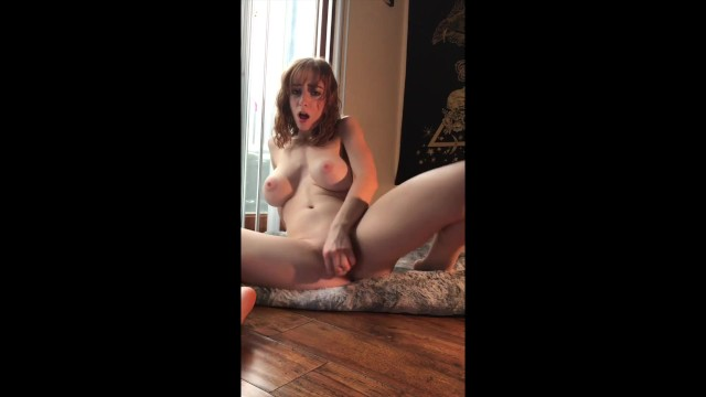 Dildo finder Big tit readhead rides dildo