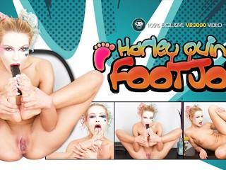 Harley Quinn VR Cosplay Foot Fetish JOI Anal Masturbation Cherry Kiss