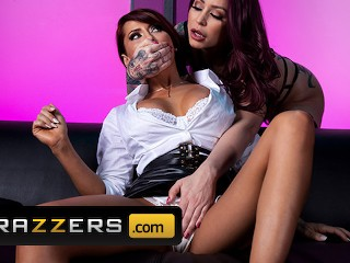 Brazzers - Big tit stripper Madison Ivy & Monique Alexander fuck backstage main image