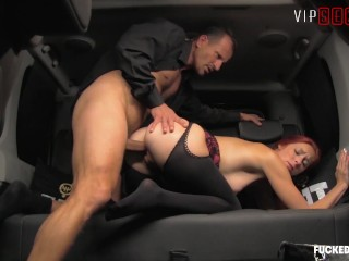 VIPSEXVAULT Kattie Gold Takes A Deep Fuck From Her Horny Chauffeur George Uhl, Kattie Gold