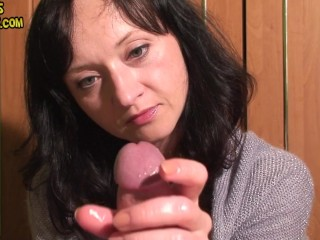 Femdom edging ruined orgasm and postorgasm torture
