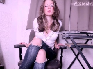 Humiliated by your Boss SPH JOI CEI femdom pov small penis humiliation Misha Mystique