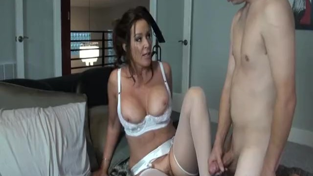 Lingerie boutique durham Rachel steele milf1132 - hottest mom in white lingerie taking stepson