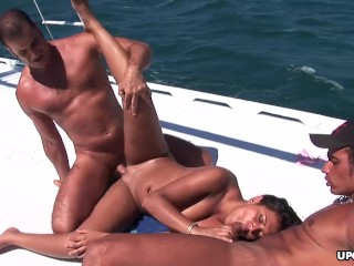 Babalou got doublefucked on a yacht and enjoyed t