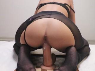 Streg out my creamy pussy wth your bg cock ntense orgasm