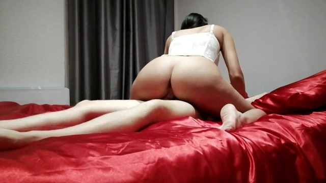 Silk chiffon lingerie fitted shirt Massage on a red silk bed, i crave i suck and fuck
