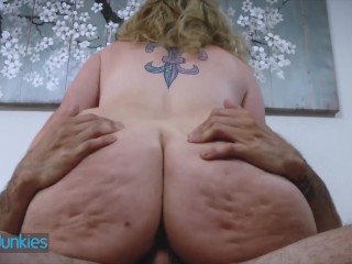 Realty Junkes Chubby step mom gets pounded by younger man