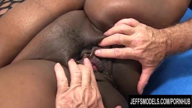 Creamy Black Pussy Fingering