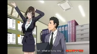 Girl with big tits wants to fuck at work - hentai porn
