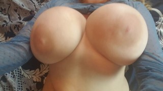 POV Big Tit Blonde Plays With Herself Solo