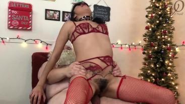 Santa Fucks Naughty Kitty Jaguar in the Ass